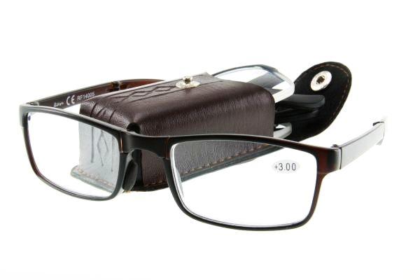 """очки готовые """"Airstyle"""" RF14005 (пластик) коричневый с футляром (раскладные)"""