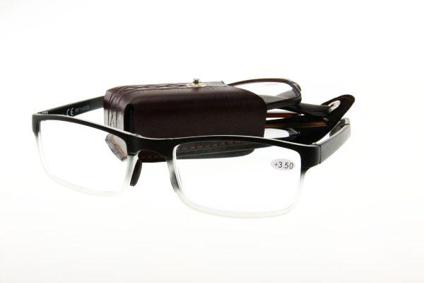 """очки готовые """"Airstyle"""" RF14005 (пластик) черный с футляром (раскладные)"""