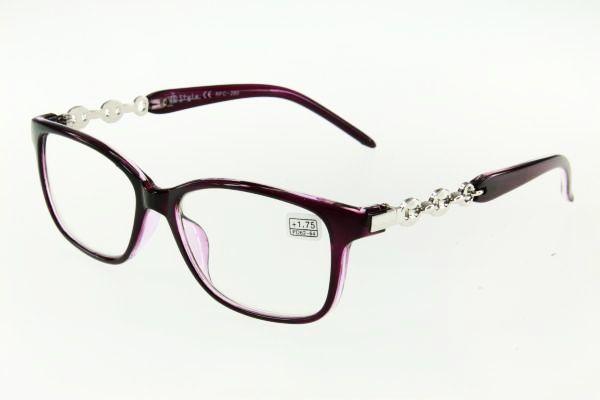 """очки готовые """"Airstyle"""" RFC 280 (пластик) фиолетовый"""