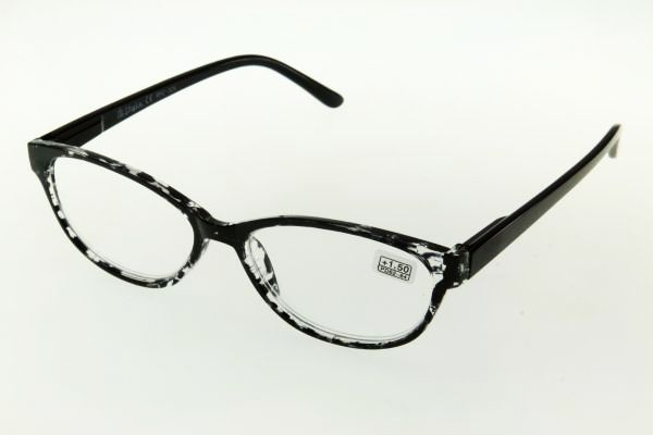 """очки готовые """"Airstyle"""" RFC 524 (пластик) прозрачно/черный"""