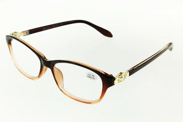 """очки готовые """"Airstyle"""" RFC 725 (пластик) коричневый"""