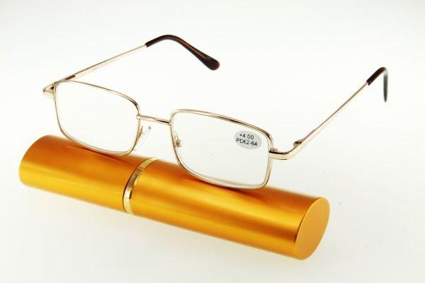 """очки готовые """"Airstyle"""" RFC M404 (металл) золото"""