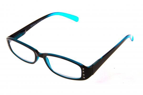"""очки готовые """"Airstyle"""" KC-1801 (пластик) черно/голубой"""