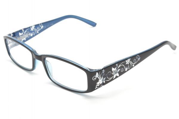 """очки готовые """"Airstyle"""" RFC 1176 (пластик) черно/голубой"""