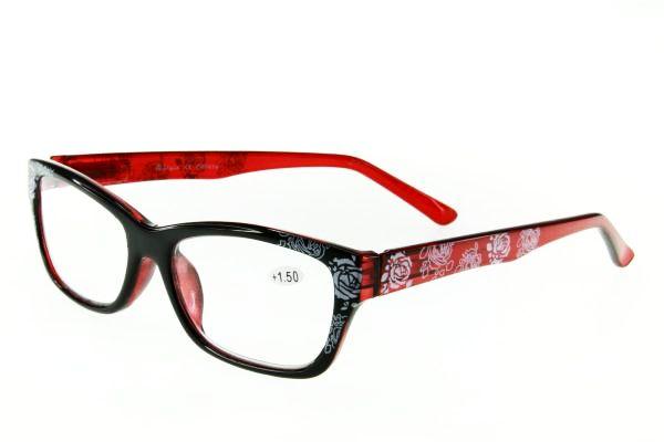 """очки готовые """"Airstyle"""" CRP 414 (пластик) красный"""