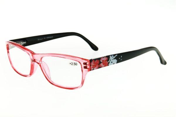"""очки готовые """"Airstyle"""" CRP 540-5 (пластик) красный"""