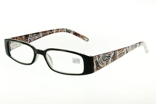 """очки готовые """"Airstyle"""" RFC-074 коричневый (пластик)"""