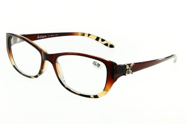 """очки готовые """"Airstyle"""" RFC 117 (пластик) коричневый"""