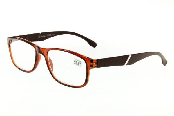 """очки готовые """"Airstyle"""" RFC 172 (пластик) коричневый"""