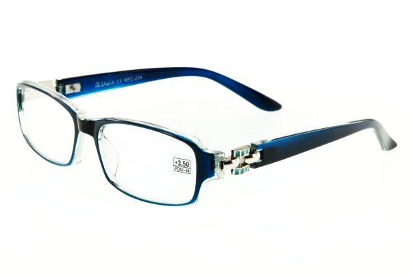 """очки готовые """"Airstyle"""" RFC 234 (пластик) голубой"""