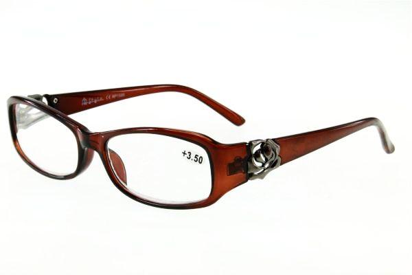 """очки готовые """"Airstyle"""" RP- 1586 (пластик) коричневый"""