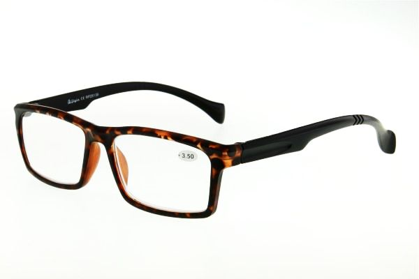 """очки готовые """"Airstyle"""" RP 25136 (пластик) черно/коричневый"""